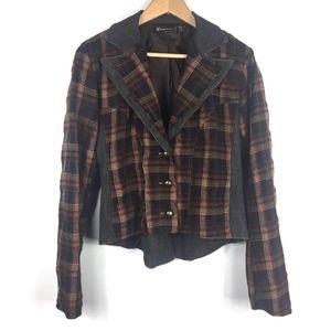 Rinascimento Plaid & Denim Jacket